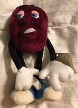 "1987 California Raisin Applause 6.5"" Poseable Bendable Plush  Blue Shoe ... - $19.76"