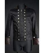 Men's Black Brown Vegan Leather Military Jacket Zip Front Steampunk Goth... - $71.53