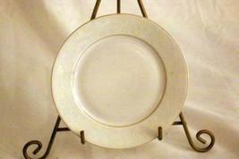 """Rosenthal White Velvet Bread Plate 6 1/4"""" Continental Line Gold Trim - $3.46"""