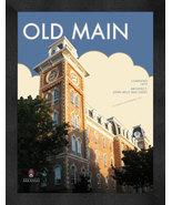 "Arkansas Razorbacks ""Old Main"" 13 x 16 Art Deco Framed Print  - $39.95"