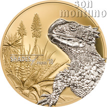 Shades of Nature SUNGAZER LIZARD Silver Proof Coin 2018 Cook Islands $5 ... - $99.00