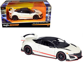 """2018 Acura NSX Pearl White w/ Carbon Top """"Exotics"""" 1/24 Diecast Car by M... - $24.99"""