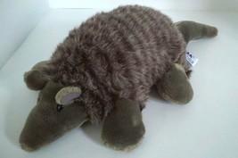 A&A Medium Armadillo Soft Gray Plush Stuffed Bean Bag Animal Doll Toy 15... - $9.89