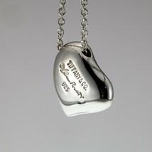 "Tiffany & Co. Sterling Silver Full Heart Pendant 14 mm w/ 16"" Chain - $237.60"