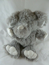 "First Impressions Gray & White Shaggy Fur Elephant Plush Baby toy 13"" Very Soft - $14.84"