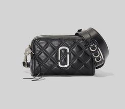 MARC JACOBS The Quilted Softshot 21 Small Camera Bag Cross-body Black - $299.00