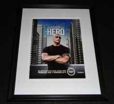 Hero 2013 The Rock Dwayne Johnson Framed 11x14 ORIGINAL Advertisement TNT - $22.55