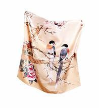 PANDA SUPERSTORE Elegant Silk Scarf Shawl Scarves Scarves for Women, Magpie