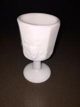 Milk Glass Paneled Grape Cordial - $2.72