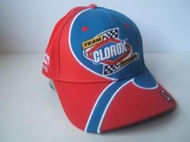 Team Clorox Racing Wood Brothers 47 Nascar Hat Red Blue Hook Loop Baseba... - $22.75