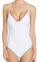 Lucky Brand Stitched Trim Strappy Cross X-Back One Piece Swimwear Swimsu... - $84.55+