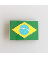 Men Belt Buckle Brazil Flag Belt Buckle Gürtelschnalle Boucle de ceinture - $8.39