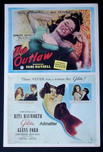 Gilda Rita Hayworth + Jane Russell Outlaw Movie Advetisment Poster - $14.49