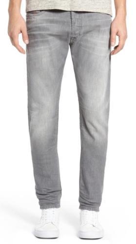 NEW DIESEL MEN'S DESIGNER SLIM CARROT LEG TEPPHAR GRAY JEANS 0853T_STRETCH