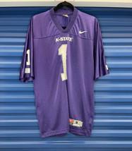 00s Nike Team Kansas State Wildcats Football Men's Away Purple Jersey si... - $19.80
