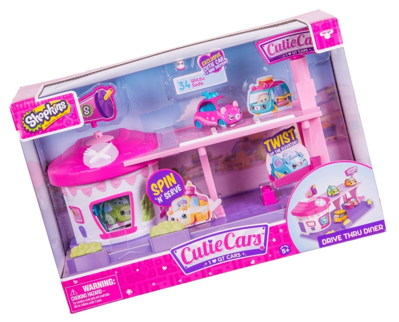 Cutie Cars Shopkins Drive Thru Diner Playset [New Toy Set]