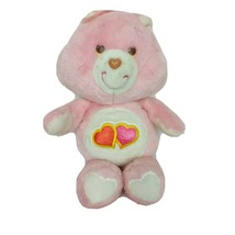 "Vintage Care Bear Love A Lot Bear Hearts Pink Plush Stuffed Animal 1983 13"" - $43.35"