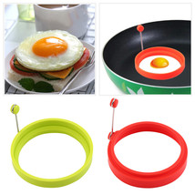 Creative Round Shape Silicone Omelette Mould Shape for Eggs Frying Cooki... - $8.25
