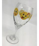 Emoji Wine Glass 12 ounce Made In USA Kiss Blush Smile LOL Sad Happy - $13.71