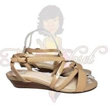 """Cole Haan Women's Tan Open Toe Strappy Slingback 1"""" Slip-On Sandals Sz 7.5B - $24.88"""
