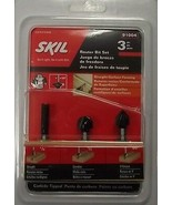 "SKIL 91004 Router Bit Set 1/4"" Straight 1/2 Corebox 90° VGroove Carbide ... - $6.44"