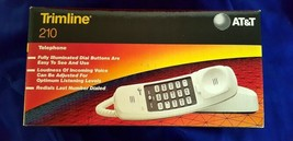 AT&T White Touch Tone 210 Trimline Phone Desk/Wall Lucent Bell 1996 In O... - $23.99