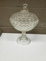 Large Westmoreland English Hobnail Covered Footed Candy Dish (dd) (rc54) - $60.73