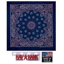 USA Gemacht Rot, Weiß & Blau Bandana Paisley Baumwollschal Schal Stirnband - $7.97