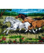 Wild Running Horses Tapestry Wall Hanging Material Country Home Decor Co... - $59.00