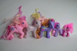 My Little Pony Lot of 5 Small and Large Pink Purple  - $22.80