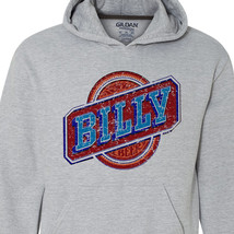 Billy Beer Hoodie retro vintage style distressed print grey graphic tee shirt image 2