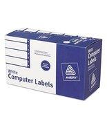 Avery 4022 Dot Matrix Mailing Labels, 1 Across, 1 15/16 x 4, White (Box ... - $106.49