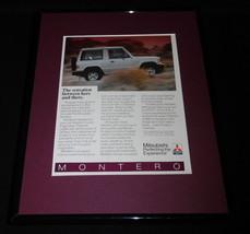 1986 Mitsubishi Montero 11x14 Framed ORIGINAL Vintage Advertisement - $32.36