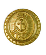 Vintage JG Hook Gold Color Metal Sleeve Replacement Button .70 - $3.91