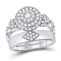 Womens Round Diamond Bridal Wedding Engagement Ring Band Set 1.00 Cttw - $2,100.00