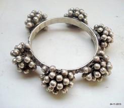 vintage antique ethnic tribal old silver bracelet bangle rabari jewelry - $494.01