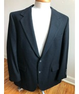 "Vtg Bill Blass 49"" Chest 100% Camel Hair Black 2-Button Blazer Suit Jack... - $45.60"