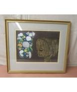 Modern Oriental Themed Shuzu Ikeda Boy & Flower 12/100 1965 22in x 19in - $263.63