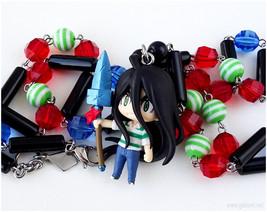 Ushio Aotsuki Beaded Necklace, Anime Jewelry, Anime Figure, Kawaii Jewel... - $35.00