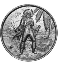 Silver 2 oz CAPTAIN Ultra High Relief -Privateer Series-Elemetal Mint - $56.42