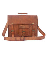 "New 15"" Vintage Soft Rustic Leather Office Laptop Travel Shoulder Messen... - $70.19"