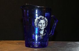 1930's Hazel-Atlas Shirley Temple Cobalt Blue Glass Pitcher AA20-2085 Vintage image 5