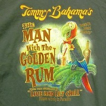 Tommy Bahama Men's Large Green Short Sleeve Graphic Tee Man With The Golden Rum - $31.72