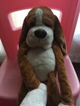 Russ Berrie Brown Black Floppy  Stuffed Plush Puppy Dog Big Paw and Big... - $19.80