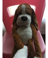 Russ Berrie Brown Black Floppy  Stuffed Plush Puppy Dog Big Paw and Big... - $19.80