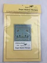 ANGEL GABRIEL Cross Stitch Kit A Wedding sampler Fabric Floss Chart - $18.69