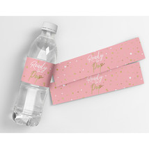 Oh Baby Pink Baby Shower Party Water Bottle Labels - $21.78