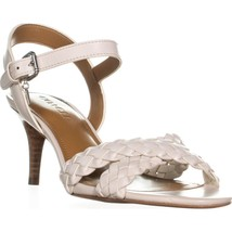 Coach Marilyn Braided Cross Strap Sandals, Chalk, 8.5 US - $83.51