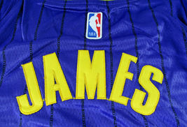 LEBRON JAMES / AUTOGRAPHED LOS ANGELES LAKERS PRO STYLE BASKETBALL JERSEY / COA image 7