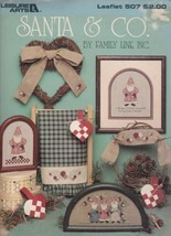 Cross Stitch Patterns, Leisure Arts Leaflet #507, Santa & Co, Family Lin... - $4.46